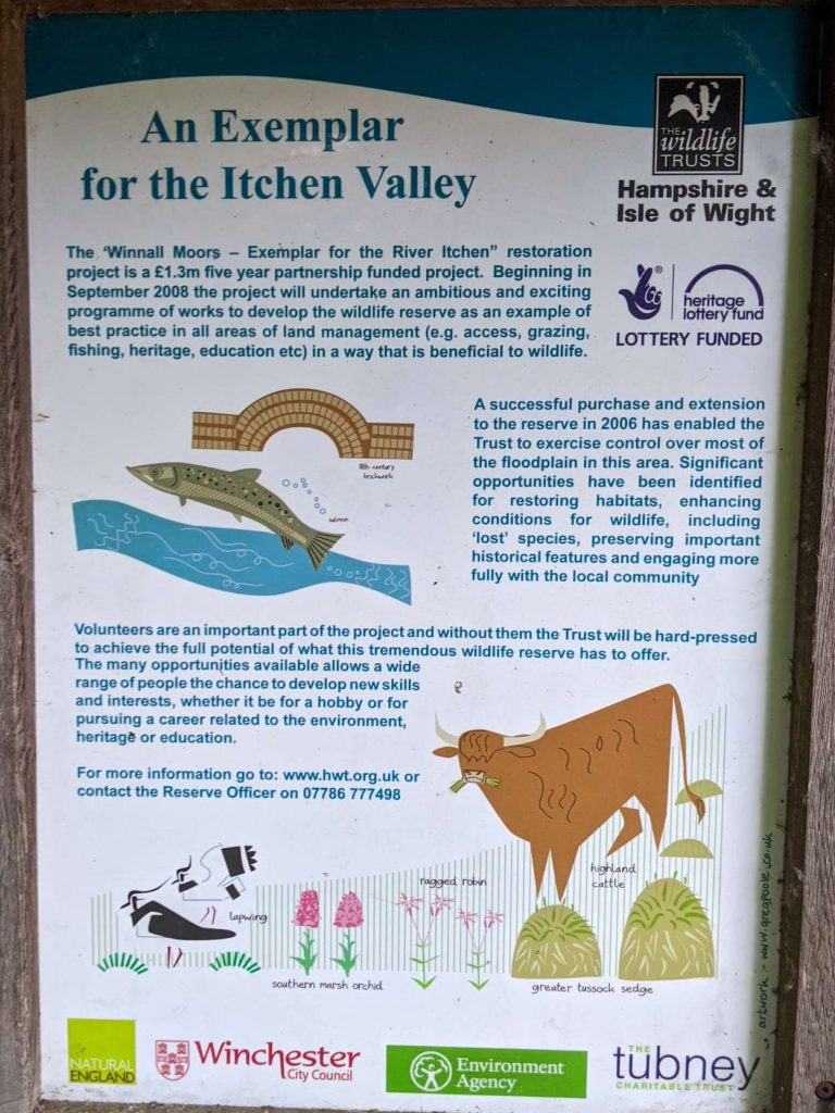Info sign at the entrance of Winnall Moors (3)