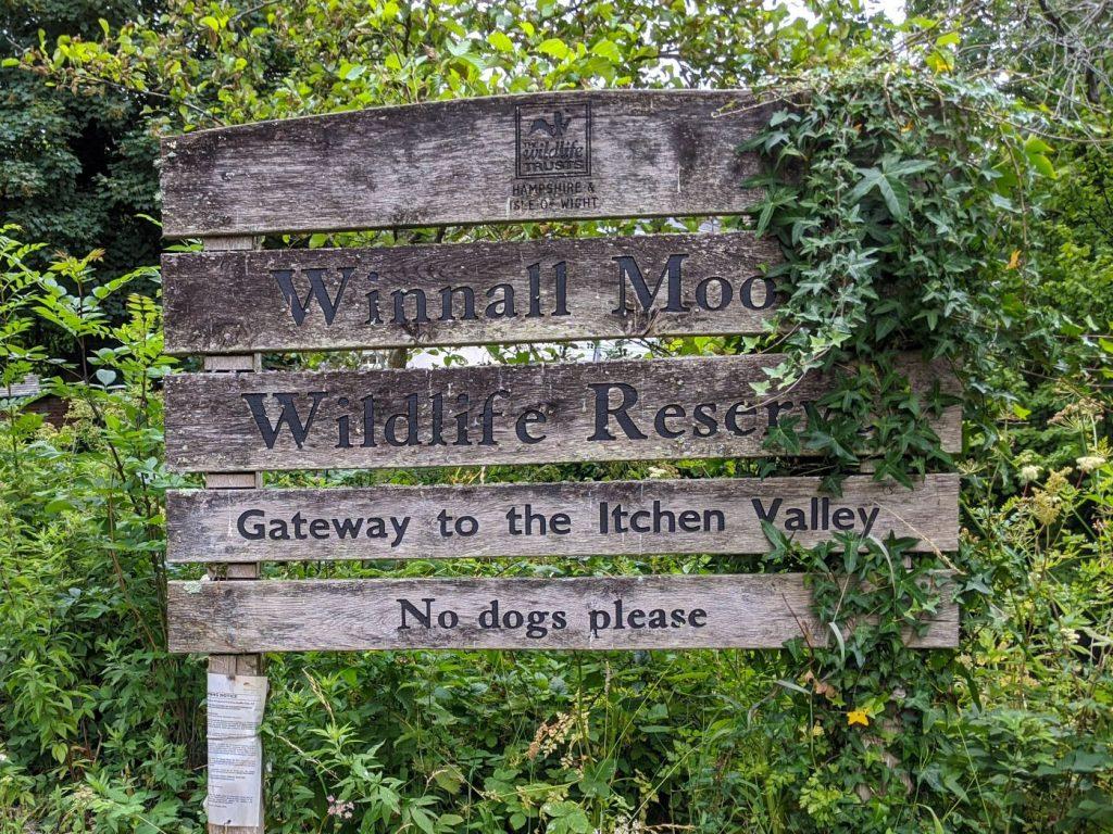 Entrance Sign Wildlife Reserve