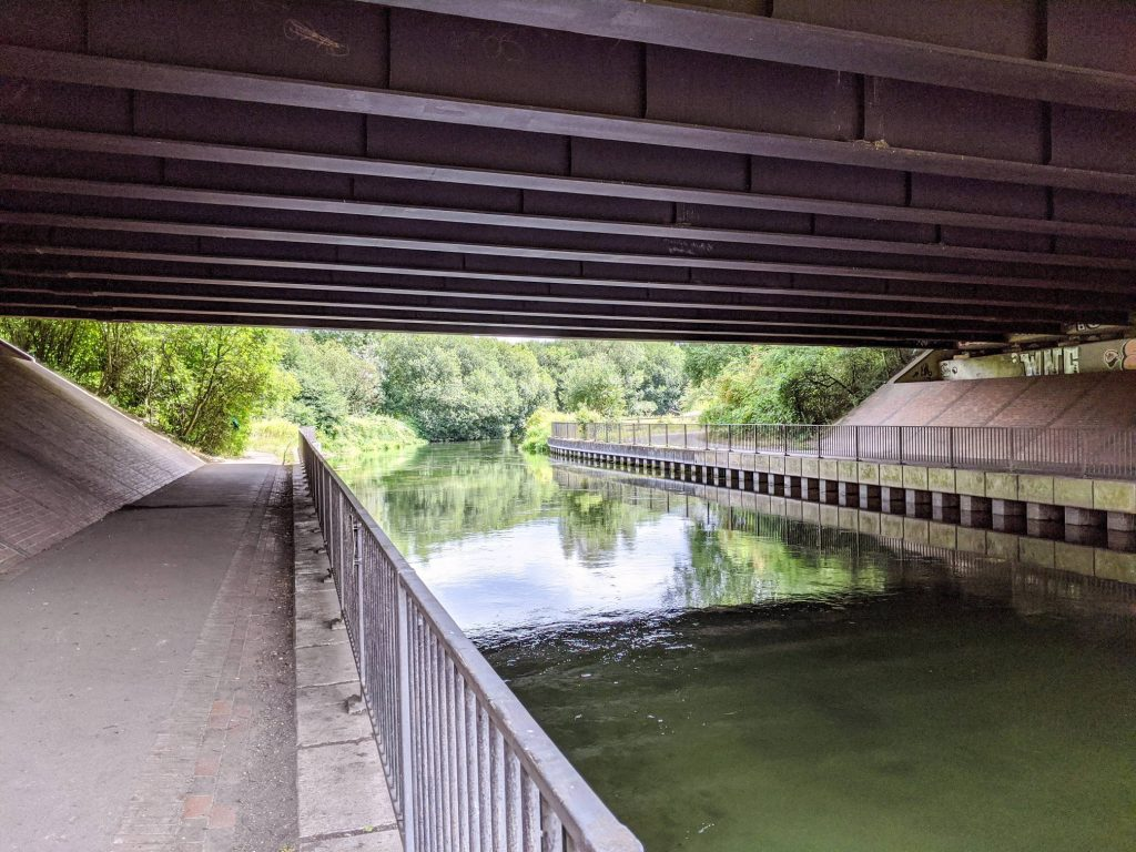 Follow the Itchen River underneath the M3