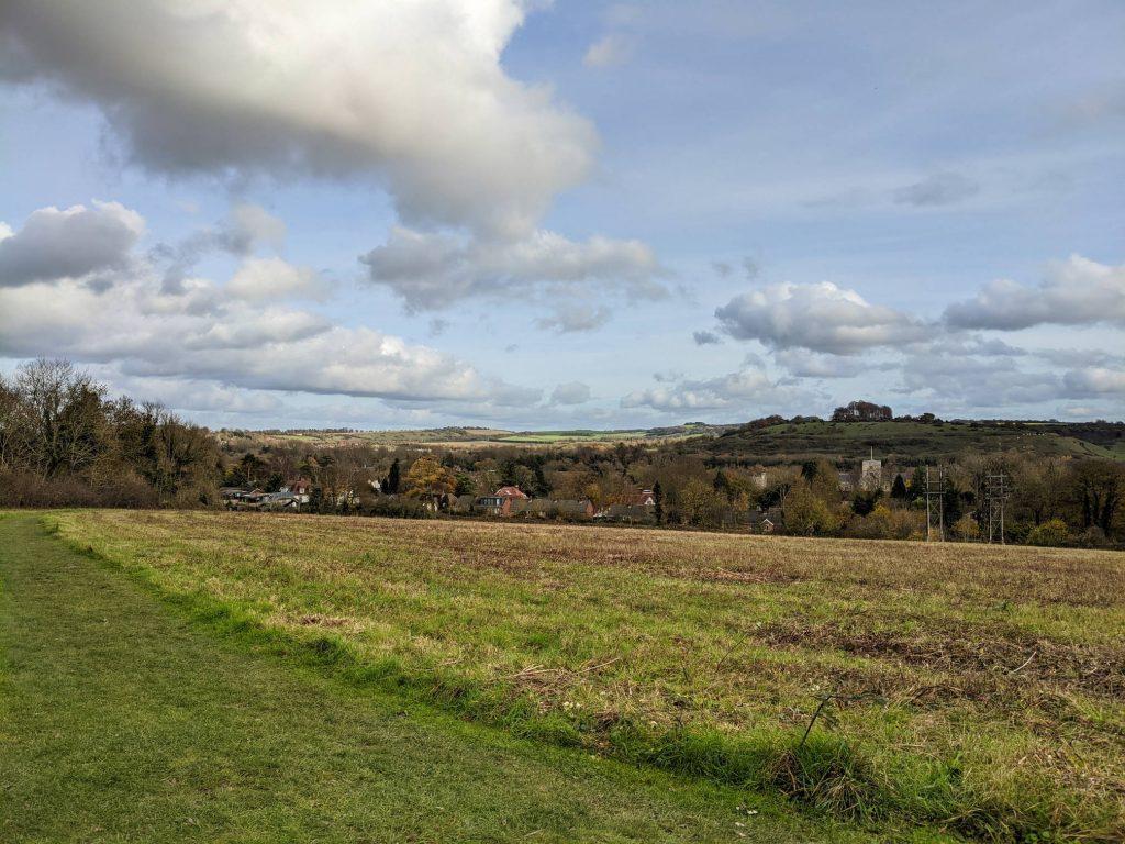 View from Whiteshute ridge to St Catherine's hill