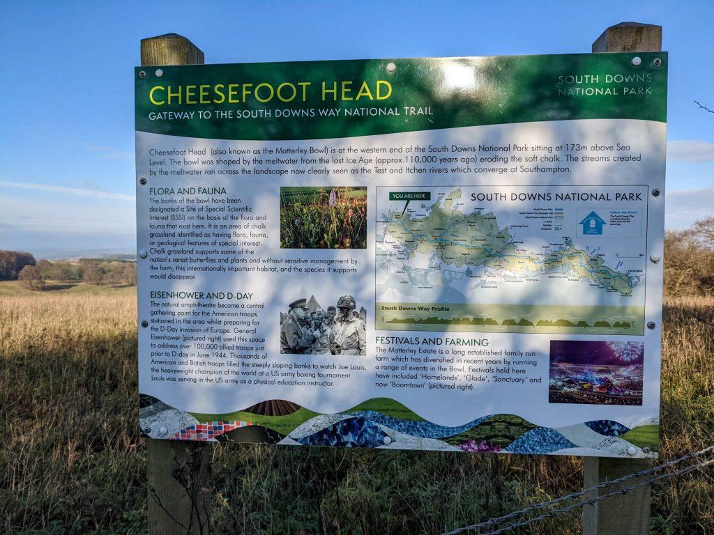 Cheesefoot Head Information Board