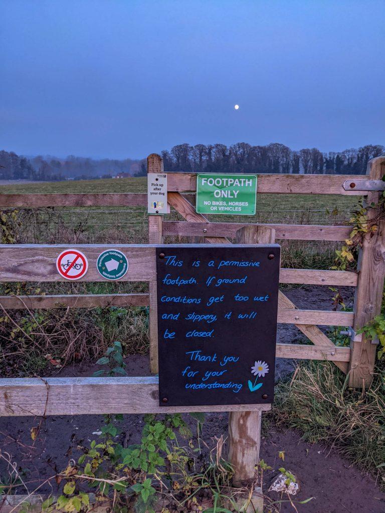 sign on Barton meadows