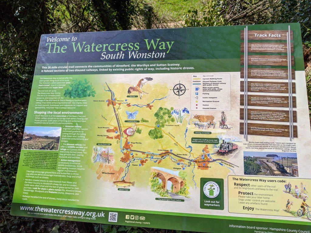 information sign Watercress Way