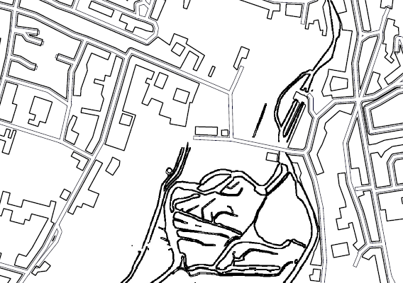 black and white colouring in map