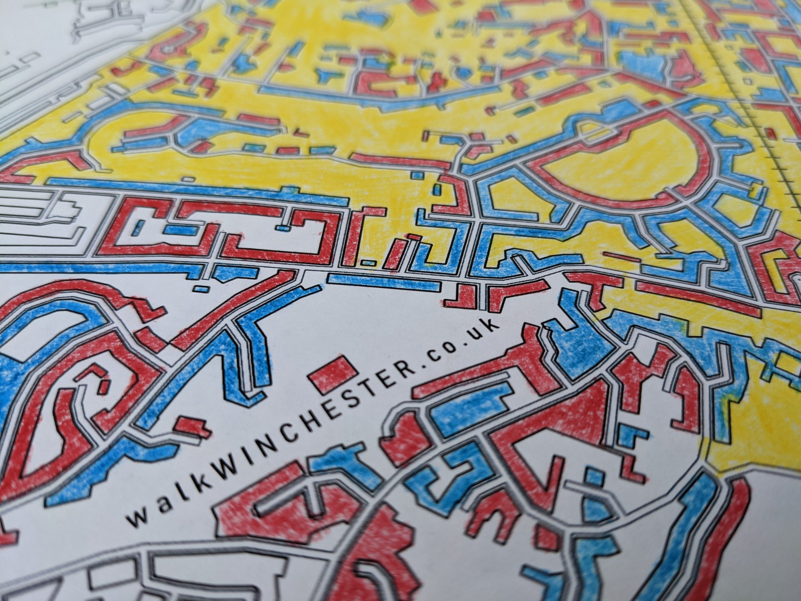 partly coloured in map