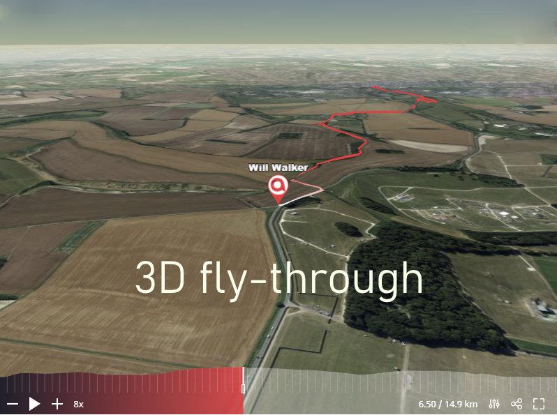 3D fly-through