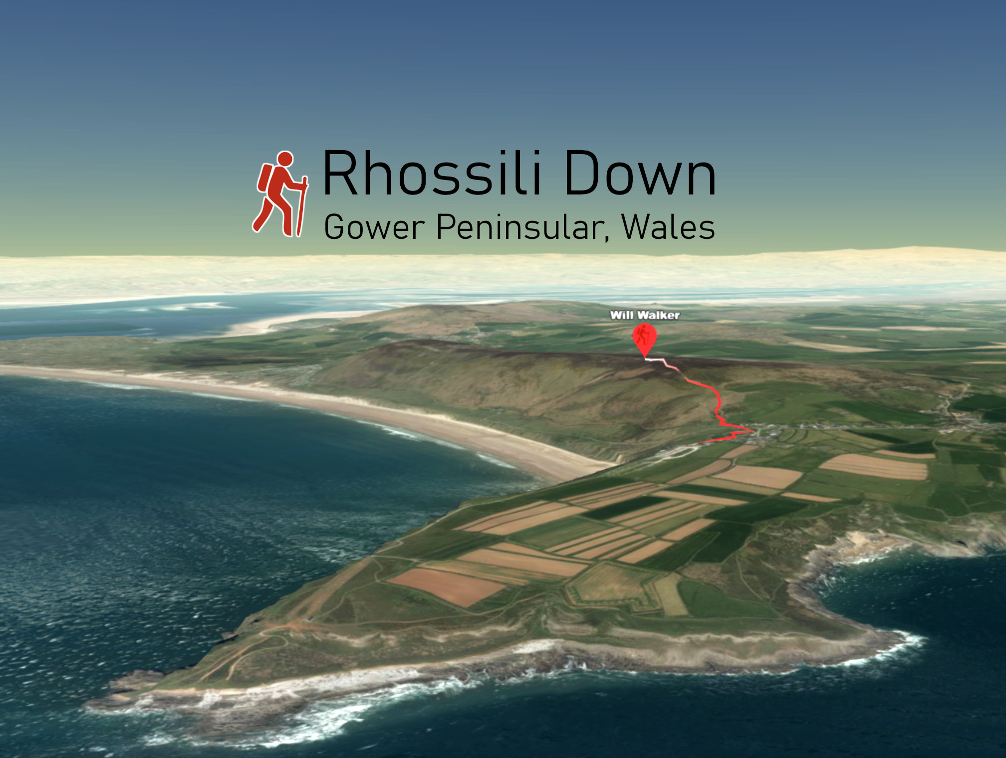 Rhossili Down 3D