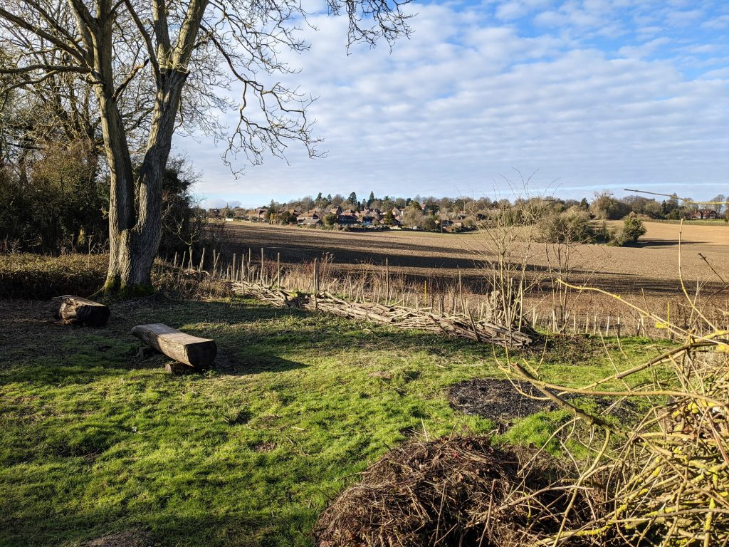View of Sparsholt village