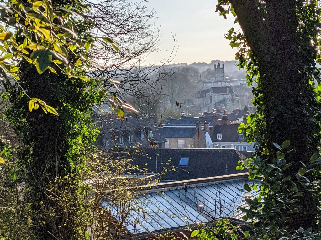 View of Winchester College from St Giles Hill