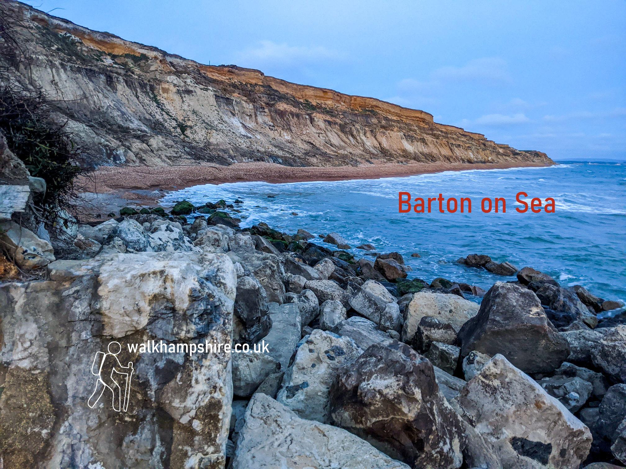 Barton on sea cliff