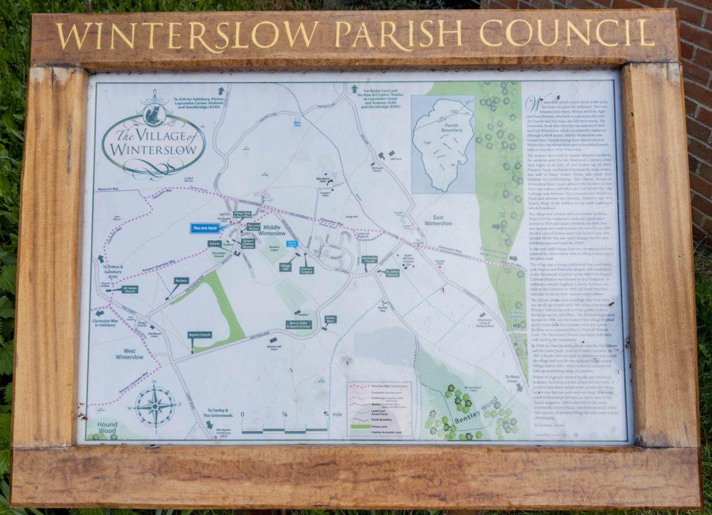 Winterslow information sign