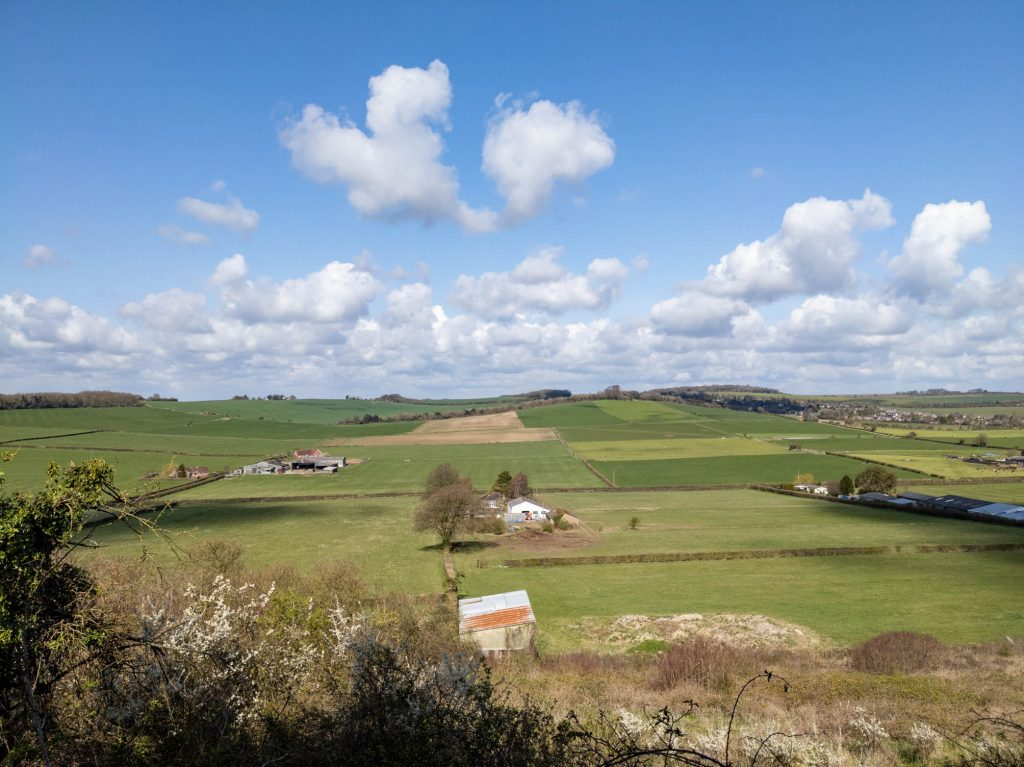 View from near Pitton towards Firsdown