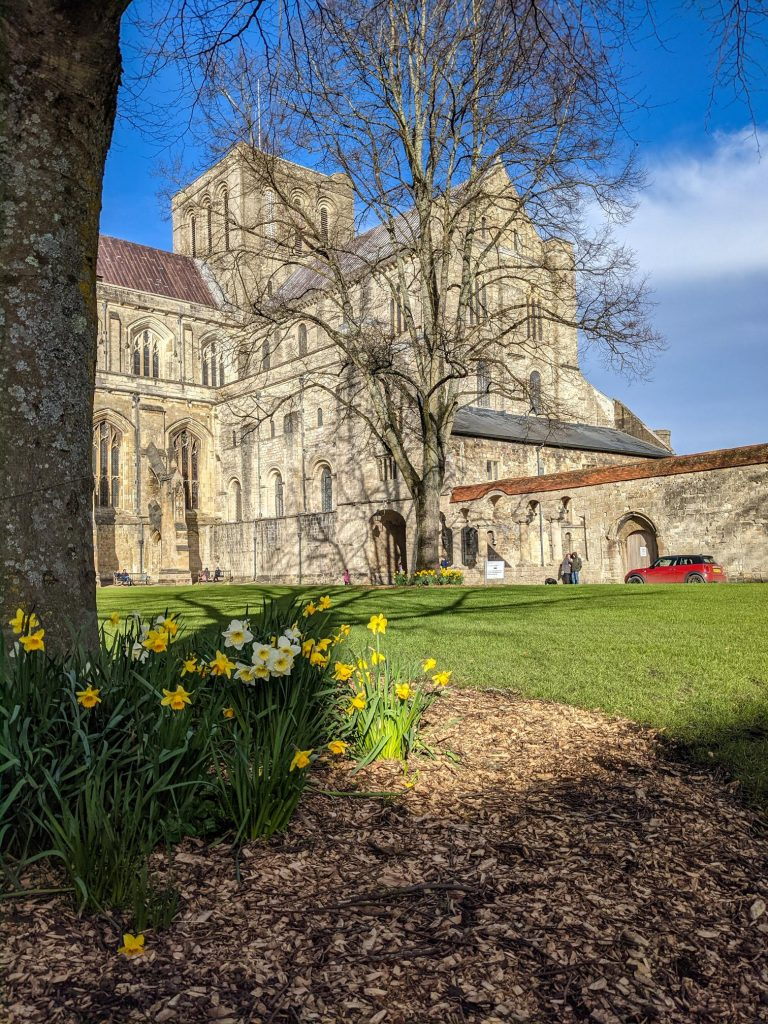 Winchester Cathedral spring