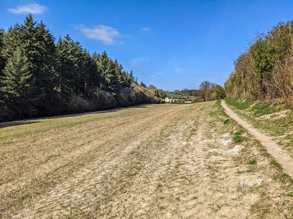 behind Hill View Farm