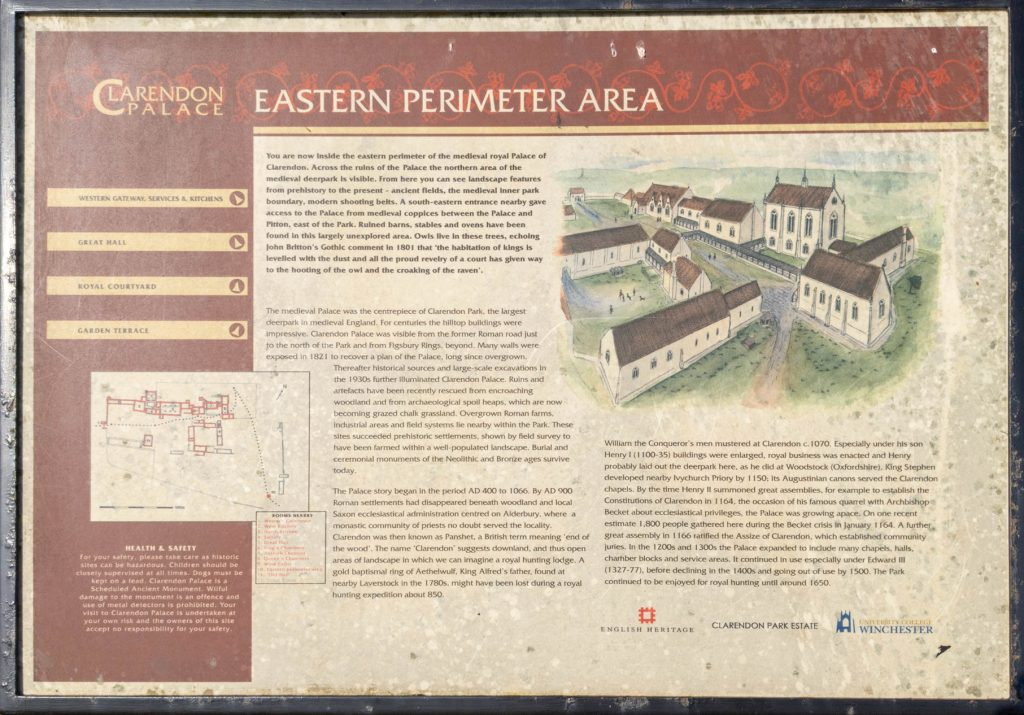 Clarendon Palace Eastern Perimeter Area sign