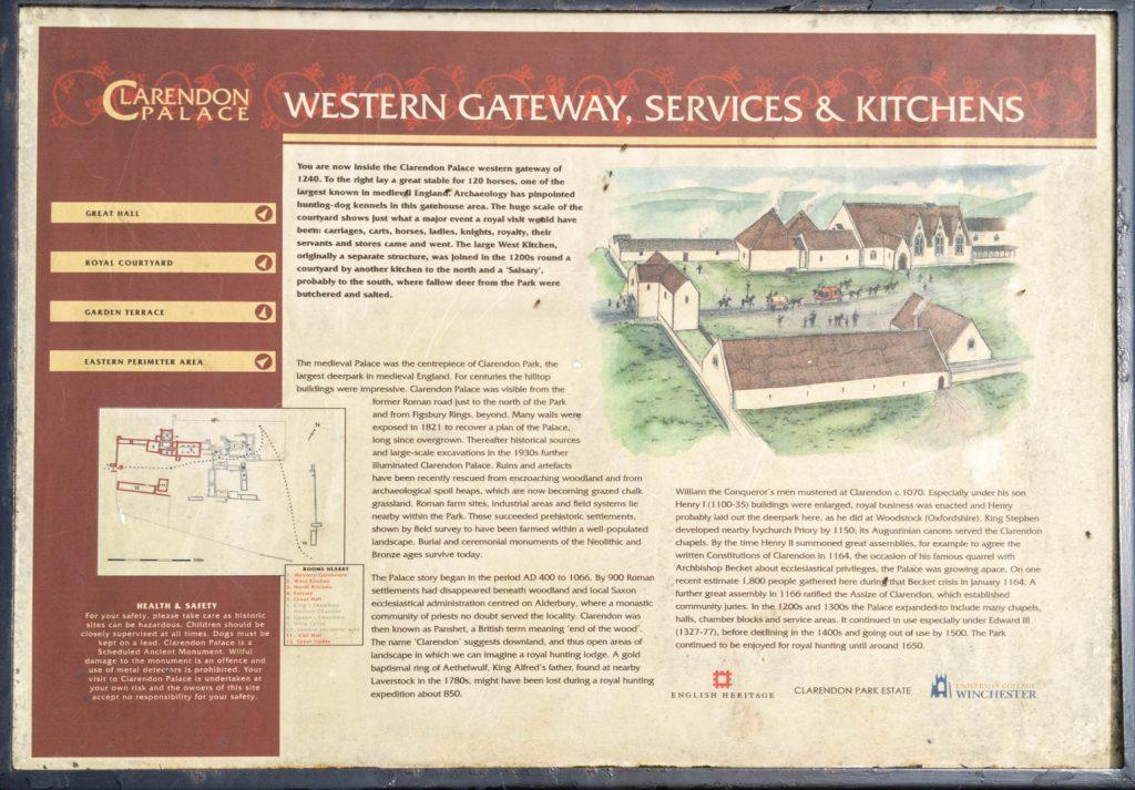 Clarendon Western Gateway sign