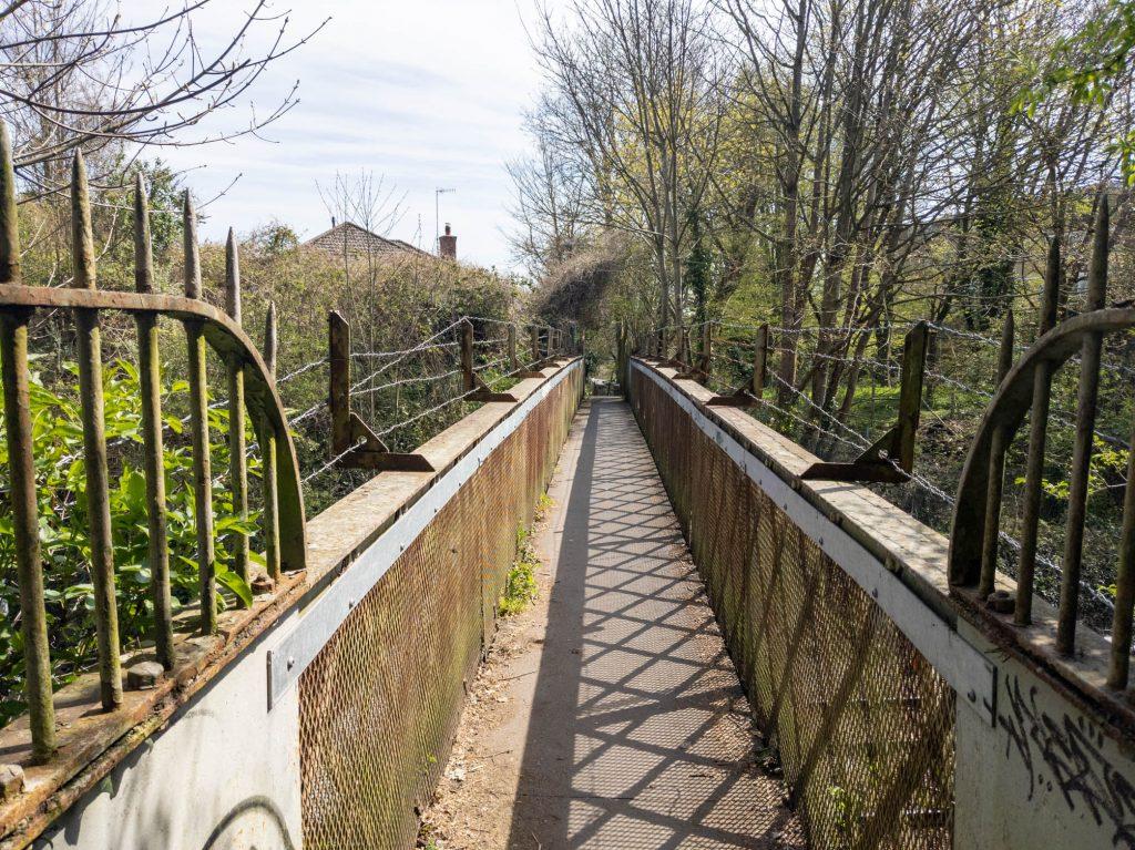 Bridge over the railway line in Salisbury