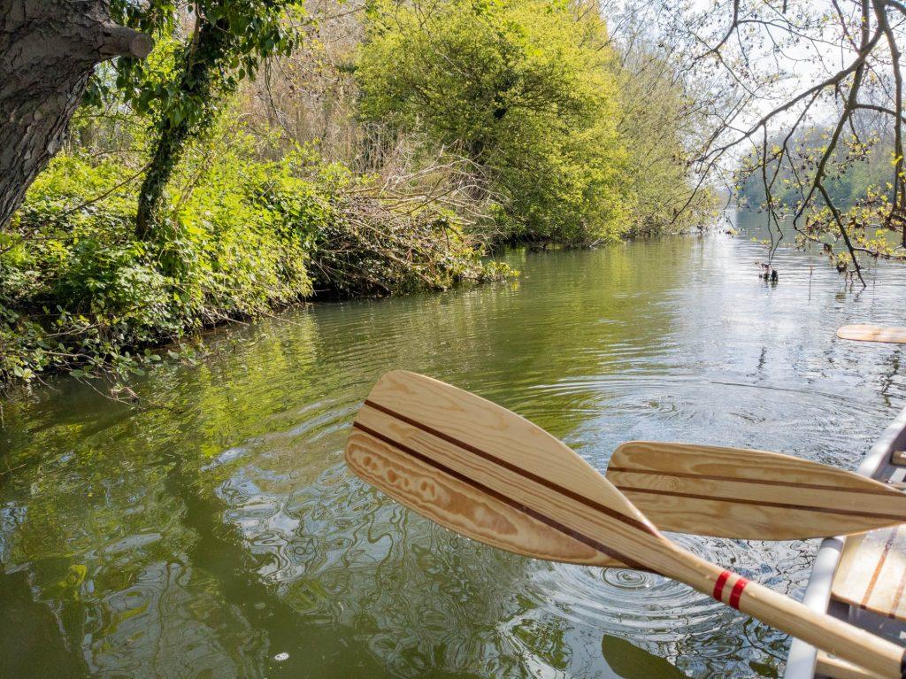 canoe on the River Thames